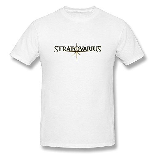MINGRUI Men's Elysium Stratovarius T-shirt L White