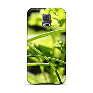 Galaxy S5 Green Grass Print High Quality Tpu Gel Frame Case Cover