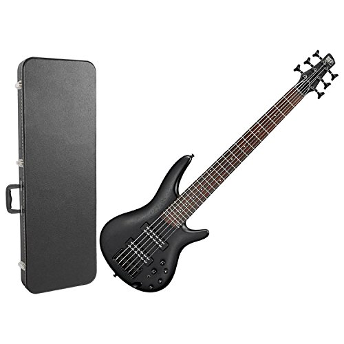 - Ibanez SR306EB 6 String Electric Bass Weathered Black w/ Hard Case