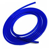 Upgr8 Universal Inner Diameter High Performance 5 Feet Length Silicone Vacuum Hose Line (10MM(3/8 Inch), Blue)