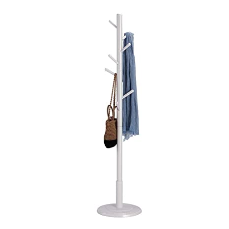 NAOYG COAT RACK Perchero de pie, Perchero de Madera Maciza ...