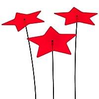 SUNPLAY Sonnenfänger Sterne Stella in ROT, 3 Stück je 20 cm Durchmesser im...