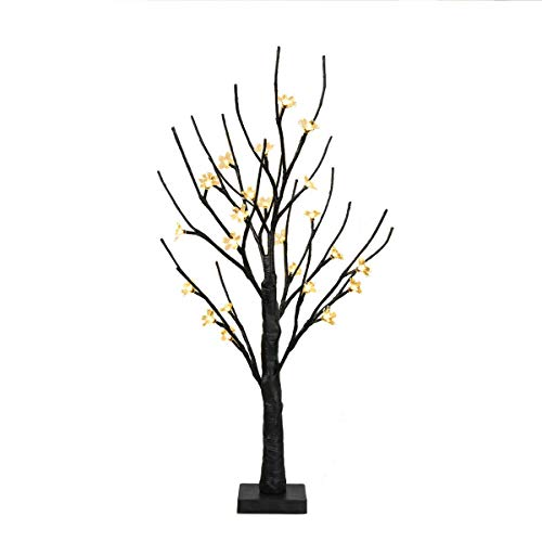 EAMBRITE Battery-Operated 24 Cherry Blossom Flower Bonsai Tree Lights with 24 Warm White LED for Indoor use