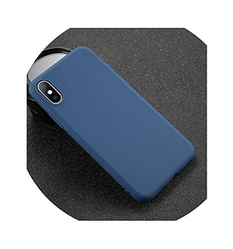 Phone CaseSoft TPU Case Candy Color Back Cover,Navy,for iPhone Xs