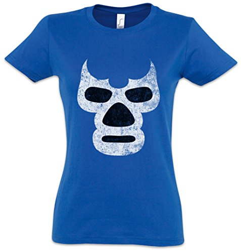 Luchador Blue Demon Girlie Woman T-Shirt – Wrestling Wrestler Mexican Mexico Latin by Urban Backwoods