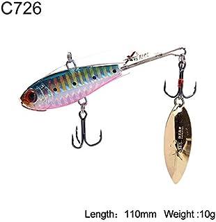 HATCHMATIC Uni Pêche Dur Lure 5 Tailles Sinking VIB Wobblers Souple Body Design avec Tour de Batte oon Aftificial Decoy Modèle 3520B: 110mm 10g C726