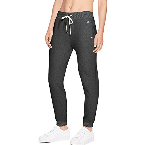 Champion Women's Heritage French Terry 7/8 Jogger, Granite Heather, Small