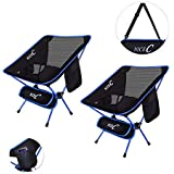 Nice C Ultralight Portable Folding Camping Backpacking Chair Compact & Heavy Duty Outdoor, Camping, BBQ, Beach, Travel, Picnic, Festival with 2 Storage Bags&Carry Bag