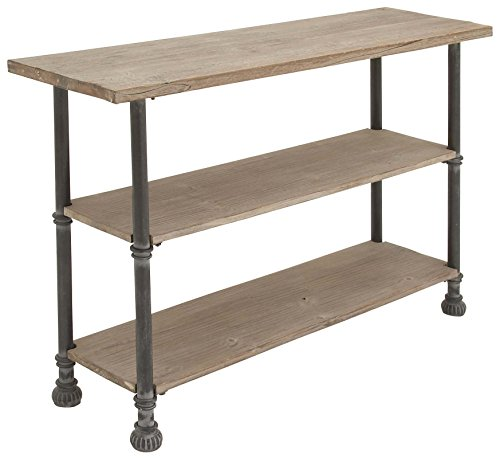 "Deco 79 66670 Wood Metal Console, 48"" x 32"", Brown"