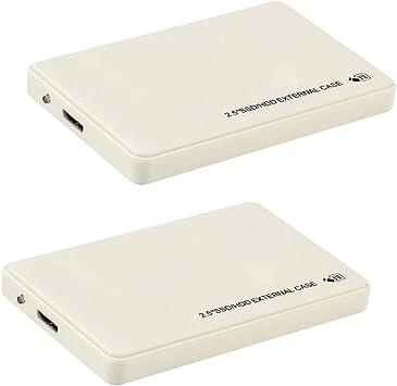D DOLITY 2個セット 外付けハードドライブ 2.5インチ USB3.0 HDD MacBook Xbox 360用 1TB 超薄