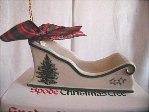 Spode Christmas Tree Ornament, Sleigh
