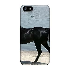 New Ezf1462opyk Elegant Blac Horse Tpu Cover Case For Iphone 5/5s