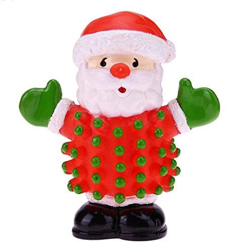 Christmas Santa Claus Modeling Squeak Toys for Dogs Good Christmas (Squeak Santa)