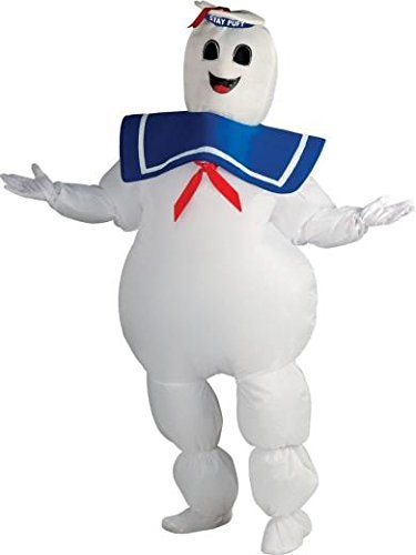 Inflatable Adult Stay Puft Marshmallow Man Costume, Plus Size, White ()