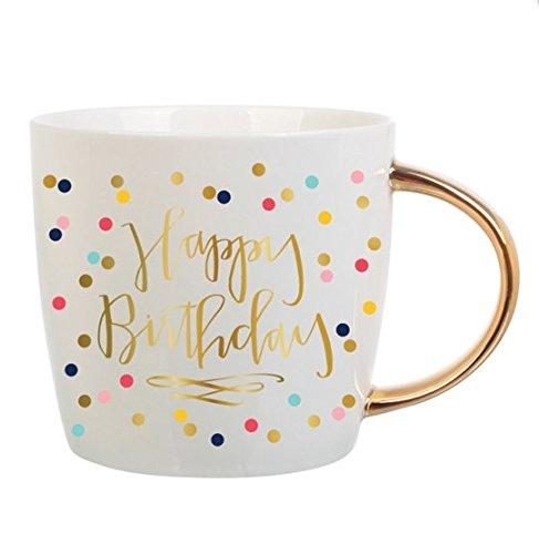 Happy Birthday Coffee Mug - Slant Collections Women's Happy Birthday Coffee Mug, Multi, One Size