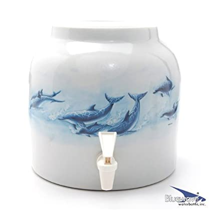 Bluewave PKDD396 Sea Creatures Design Water Dispenser Crock, Killer Whales