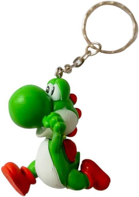 Desconocido Super Mario Bros Llavero Figura 3D Yoshi - 5,5 cm ...
