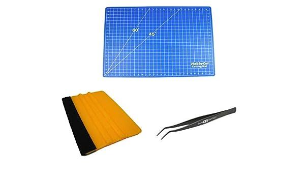 HobbyCut A2 - Juego de estera para cortar, pinzas autocurativas curvadas con borde de fieltro: Amazon.es: Hogar