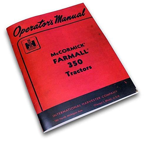 Photo International Farmall 350 Gas Tractor Owners Operators Printed Manual Ihc Ih