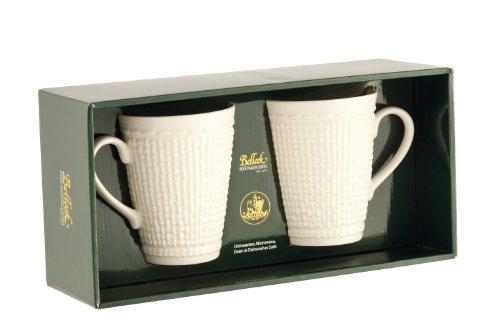 Galway Weave 4125 Mug, 15-Ounce, Ivory - Irish Porcelain Kitchen