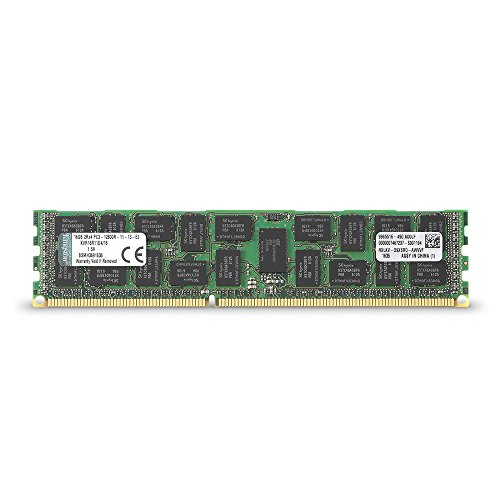 Kingston Technology ValueRAM 16 GB 1600MHz DDR3 (PC3-12800) ECC Reg CL11 DIMM DR x4 Server Memory KVR16R11D4/16