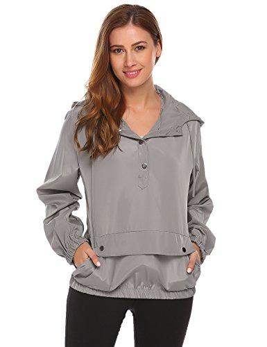SummerRio Women's Long Sleeve Hoodies Pullover Button Patchwork Sweatshirt Jacket by SummerRio (Image #8)