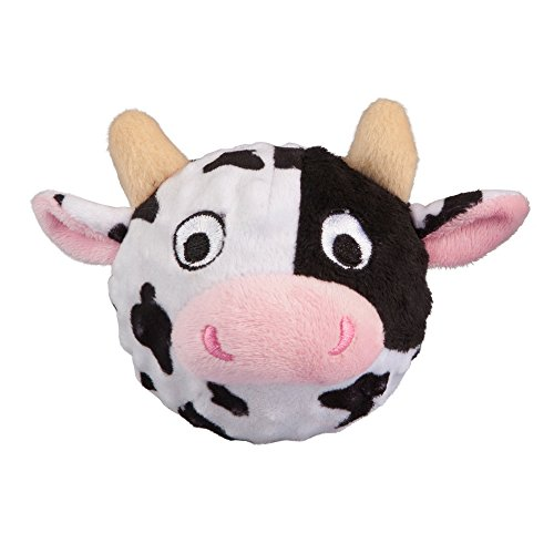 Image of fabdog Cow faball Squeaky Dog Toy (Medium)