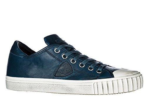 Philippe Model Scarpe Sneakers Uomo in Pelle Nuove Gare Blu Resistente Comprar Barato Reciente Comprar Descuento Grande Barato zXtewJeYj