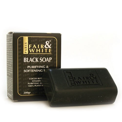 (Fair & White Original Anti-bacterial Black Soap - Purifying & Softening, 200g / 7oz)