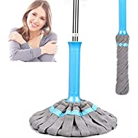 Microfiber Twist Mop, Self- Wringing Household Dust Mops with Stainless Steel Handle for Floor Cleaning (Mop Head)