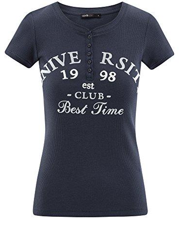 shirt Basic Cotone Ultra T Oodji 7910p Blu Donna In aIztWqw