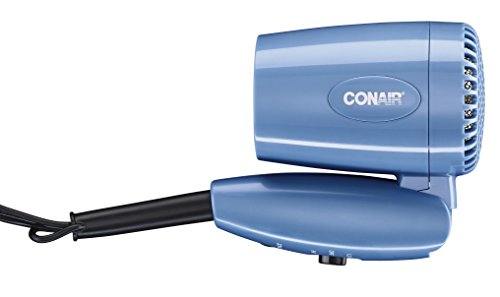 Conair 1600 Watt Compact Hair Dryer with Folding Handle; Dual Voltage Travel Hair Dryer