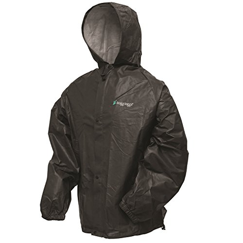 Frogg Toggs Pro Lite Rain Suit, X/2X, Carbon Black (Frogg Toggs Motorcycle Rain Gear compare prices)