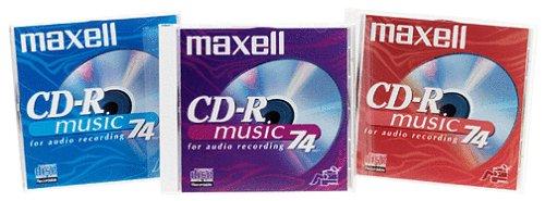 Maxell Digital Media CD-R 74-Minute DA (Color, 3-Pack)