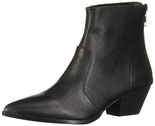 Black Steve 5 Leather Madden 5 Us Cafe Women's Casual Bootie rt71qtUw
