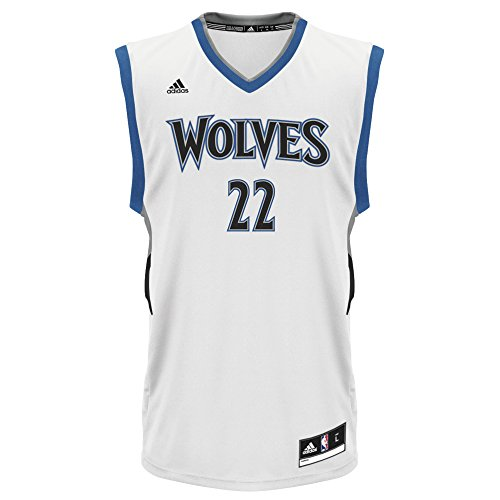 fan products of NBA Minnesota Timberwolves Andrew Wiggins #22 Men's Replica Jersey, Large, White