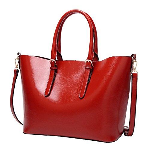 Sacs poches Main épaules à Mode Messager Sacs red Dames Sacs Main De Cuir Multi à 5OvnFxqn