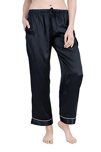 OSCAR ROSSA Women's Luxury Silk Sleepwear 100% Silk Pajama (Sleepwear Silk Sleep Pant)