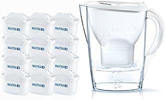 BRITA Marella - Jarra de Agua Filtrada con 12 Filtros MAXTRA+, color blanco