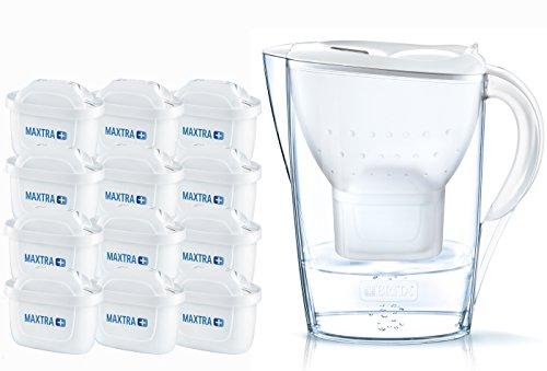 BRITA Marella Cool Water Filter Jug and Cartridges Annual Pack, White (Pack...