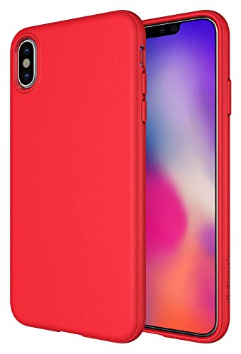 Soft Touch Buttons - iPhone Xs Max Case, Diztronic Full Matte Soft Touch Slim-Fit Flexible TPU Case for Apple iPhone Xs Max (Matte Red)