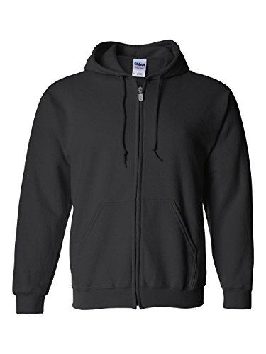 Gildan Adult Heavy Blend Full-Zip Hooded Sweatshirt (Black) (Small) by Gildan