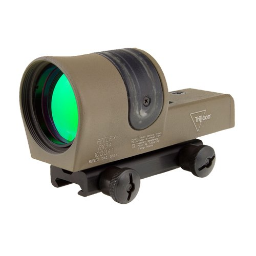 1x 42mm Amber 4.5 MOA Dot Reticle with Flattop Mount, Dry Earth (Moa Amber Dot)