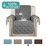 Turquoize 100% Waterproof Furniture Protectors for Recliners Chair Covers Recliner Slipcover Sofa Cover for Leather Sofa, Non-Slip Protector for Recliner Chair (Recliner,79'x68') Grey