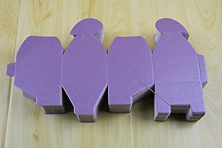 SHINA 50pcs Cajas de forma de Coraz/ón para Fiesta Boda Favor Cumplea/ños / Caja de regalo Caja de bombones Beige