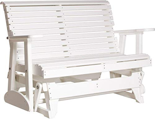 LuxCraft Rollback Recycled Plastic 4ft. Patio Glider