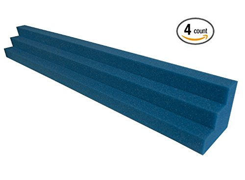 Blue XL Column Acoustic Wedge Studio Foam Corner Block Finish Corner Wall in Studios or Home Theater (4 (Acoustic Blues Blocks)