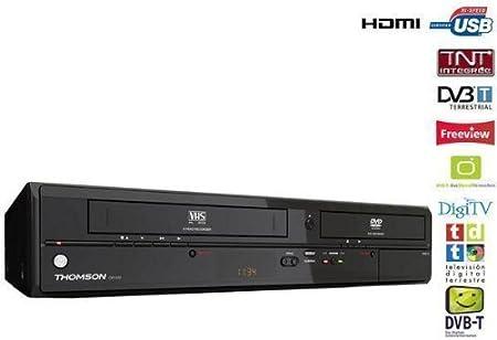 THOMSON Combinado reproductor grabador DVD/VHS CB1000: Amazon.es: Electrónica