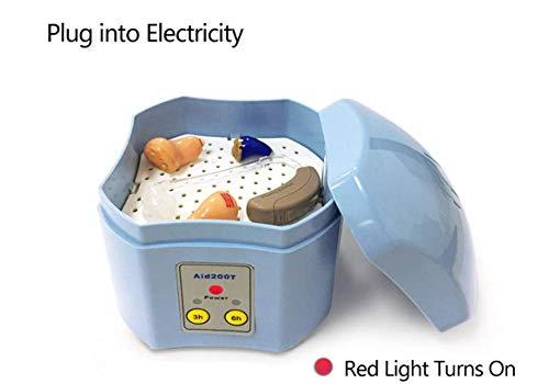 MFZTQ Automatic Hearing Aid Dryer, Timing Electronic Maintenance Drying Box Anti-Mildew dehumidification A by MFZTQ
