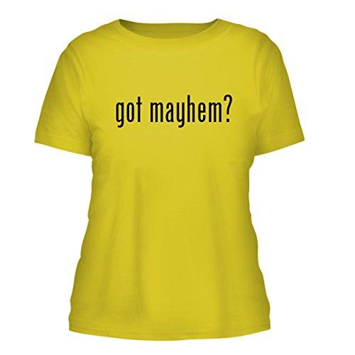 got mayhem? - A Nice Misses Cut Women's Short Sleeve T-Shirt, Yellow, - Mayhem Allstate